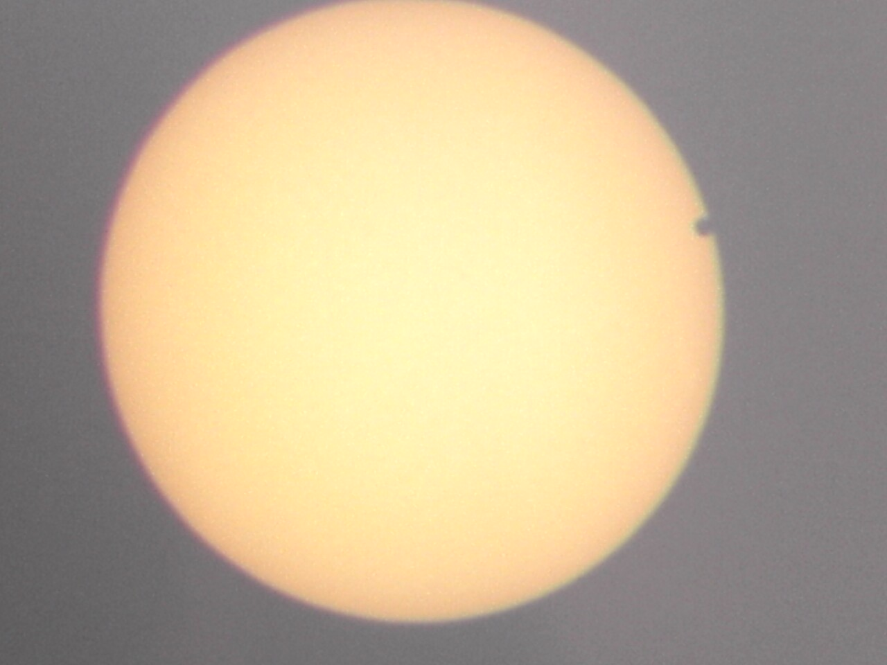 Image of Venus Transiting Sun, as seen from Pittsburgh 2004 June 8